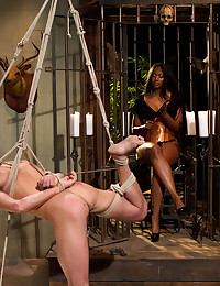Man in bondage dominated