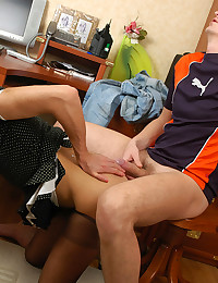 Naughty Gay Maid Pleasures Master
