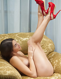 Vanda B is looking hot as hell in her red nightie today.