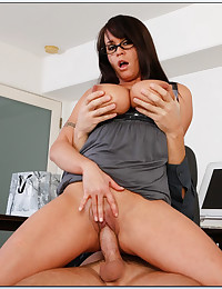 Horny Minx Banged In The Office