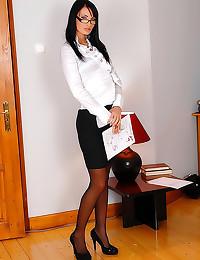 Naughty schoolgirl teen gets spanking