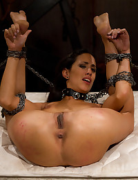 All natural tall 22 year old tries BDSM for the first time getting fisted and punished til she squirts!