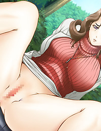 Thick hentai mommy with huge breasts slobbers all over dick