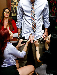 Naughty Office Workers Enjoy Orgy