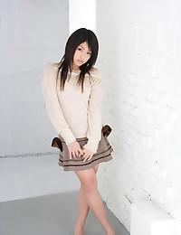 Japanese sweater girl teases