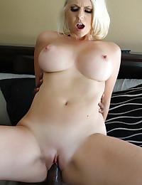 Black cock inside this blonde hottie