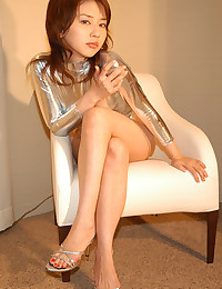 Japanese girl in shiny outfit