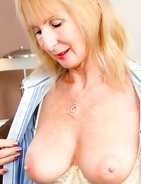 Cute mature with hairy vagina