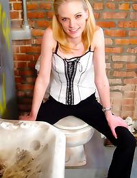 Cute blonde gobbles black coc...