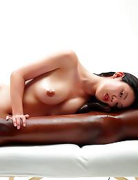 Asian massage for black man
