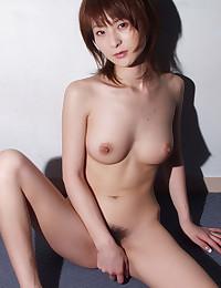 Hairy Japanese girl showers