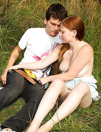 Natural teen sex outdoors