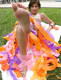 True Tere - Little girl in colorful undies exposes her amazing young body alfresco