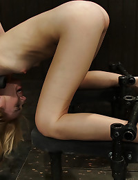 He fucks the bent over bound girl