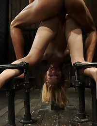 He fucks the bent over bound girl