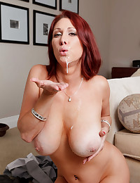 Horny redhead loves anal sex