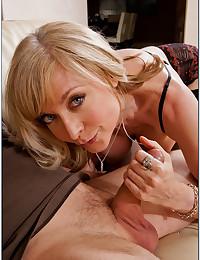 Hot mom enjoys big cock