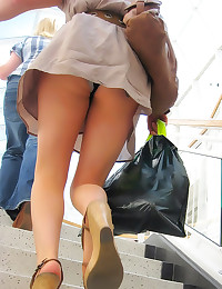Up her dress in public