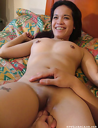 Smiley Asian Cutie Rides Hard Cock
