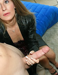 Sara James milf handjob with ...