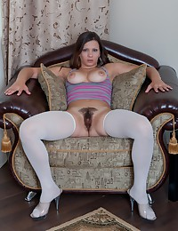 Bianka just loves to show you her sexy outfit but what's better is what she has undeneath all of those clotes. Let Bianka show you her hairy pussy. A tight pin snatch like hers deserves all the attention that it can get.