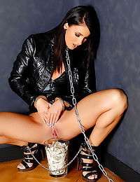 Leather fetish and fun pissing