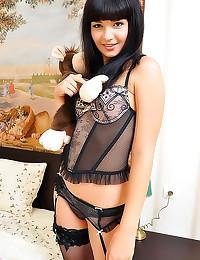 Gorgeous girl lingerie stript...