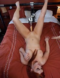 Redhead and a fucking machine