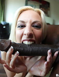 Black Dick Cums Beautiful Face
