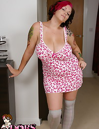 Dors Feline - Fat teen kitty bragging humongous jugs strips for you in her apartment