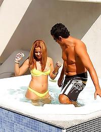 Hot tub hardcore with Latina