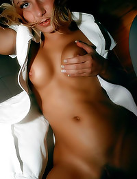 Hot blonde nurse shaved pussy
