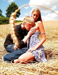 Making love in a field