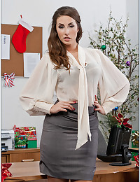 Naughty Officegirl Paige Strips Down