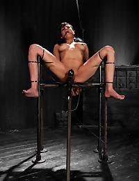 Kinky Mocha Babe Get Hogtied