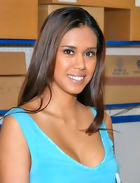 Cum on pretty Latina face