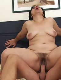 His wife walks in on him just as he is blowing his load on his mother in law so sticky