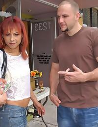 Skinny redheaded Latina sexed up