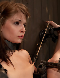 Young hottie in bondage