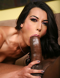 Skinny white girl and huge black cock