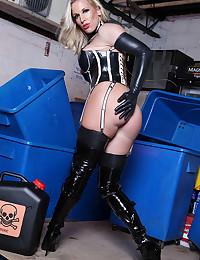 Leggy Blonde Minx Rebecca Moore