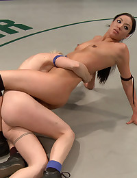 Pussy Hungry Babes Wrestle Rough
