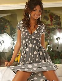 Karla Spice - Glamorous latina beauty posing in sexy dress
