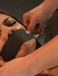 Tied up and fucked by machines until cum drips out of her tight pussy. 18 yr old Shane Dos Santos knows how to spread open and take it.