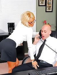 Incredible blonde big cock se...