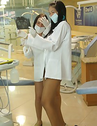 Irresistible teen nurses bust...