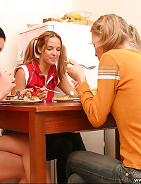 Mandy Lightspeed - A group of girls have a meal and get a little dirty