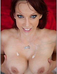 Seductive milf redhead with big tits