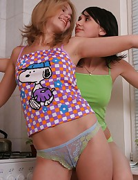 Abigail 18 - Blonde and brunette teen broads making out