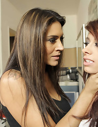 Lesbians get naughty and hot